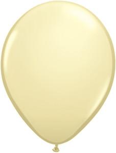 "11"" Qualatex Ivory Silk Latex Balloons  100ct #43751"