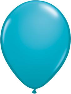 "11"" Qualatex Tropical Teal Helium Latex Balloons 100ct #43799"