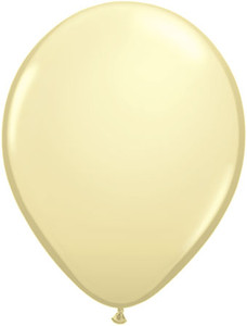 ivory colored balloons