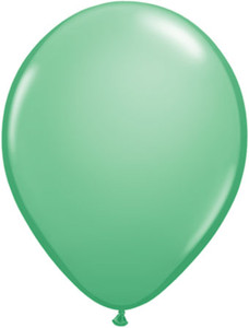 winter green balloons