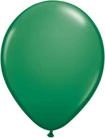 "16"" qualatex standard green helium balloons"