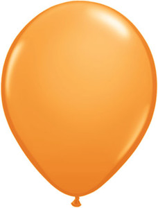 "16"" Qualatex Standard Orange Helium Latex Balloons  50ct"
