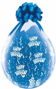 "18"" Qualatex Clear Stuffing Balloon Birthday Print 25ct #37548"