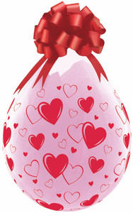 qualatex stuffing balloons red hearts clear balloons
