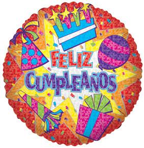 """18"""" Feliz Cumpleanos 1ct"""