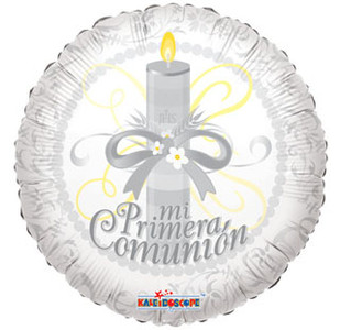 "18"" Mi Primera Spanish Communion Helium Foil Balloon 1ct #34531"