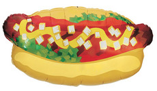 "32"" Hot Dog Shape Balloon 1ct 15657"