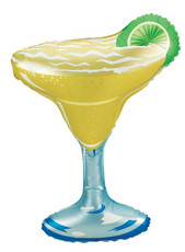 "36"" Margarita Glass Shape Helium Foil Balloon #15437"
