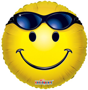 "18"" Summer Smiley Sunglasses Balloon (5 Pack)#17525"