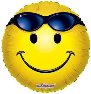 "18"" Summer Smiley Sunglasses Balloon (5 Pack)#17525"
