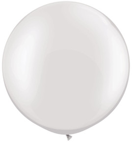 "36"" Pearl White Round Latex Balloon 1ct #3637"
