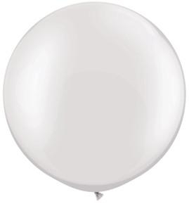 "36"" Pearl White Round Latex Balloon 1ct #3637"