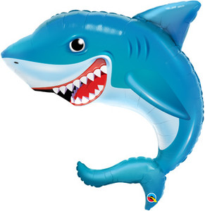"36"" Smiling Shark Shape Helium Foil Balloon #97518"