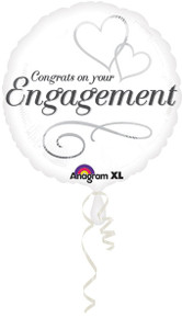 "18"" Congratulations on Engagement Balloon 1ct #24548"