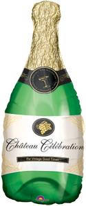 "36"" Champagne Bottle Shape Helium Foil Balloon #04949"