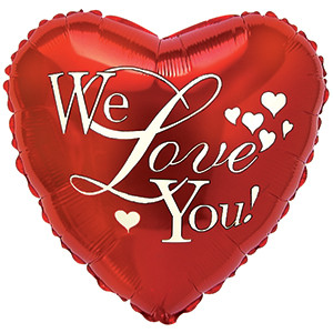 """18"""" We Love You Balloons 1ct #214043"""