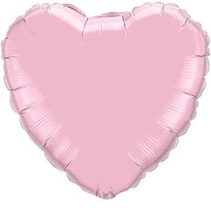 big pearl pink heart balloons