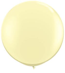 ivory silk big round balloons