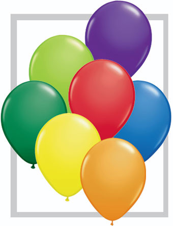 5 inch qualatex carnival assortment latex balloons