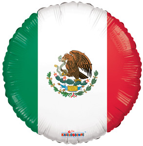 "18"" Mexican Flag Foil Balloon 1ct ##19581"