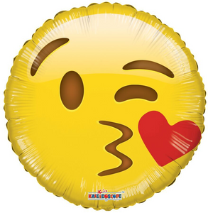"18"" Emoji Kiss Face Smiley (5 PACK)#35359"