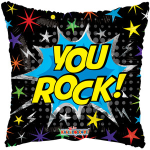"18"" You Rock Square Helium Foil Balloon (5 PACK) #15865"