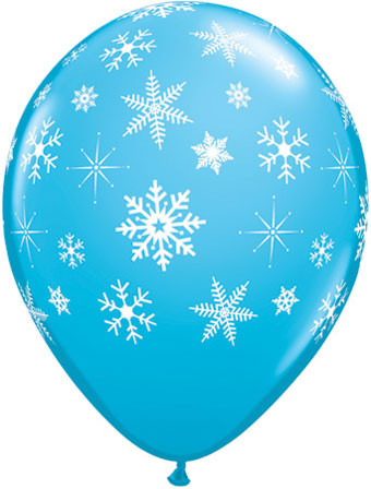 snow flake ballloons robin egg