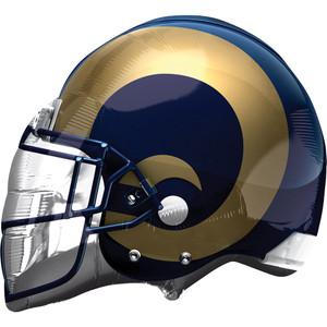 """21"""" LA Rams Helmet Shape Foil Helium Balloon #26310"""