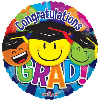 smiley graduation balloons