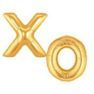 "34"" Large XO Gold Balloons Set"