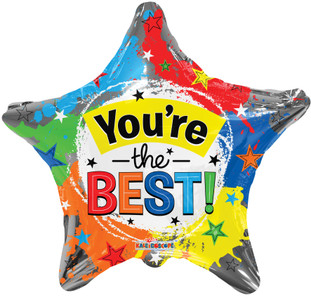 "18"" You're The Best Stars Foil Balloon (5 Pack) #15837-18"
