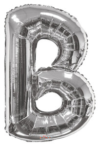 "34"" Silver Letter ""B"" Balloon #15231-34S"
