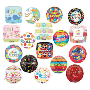 Mixed Popular Occasion Mylar Balloons Bulk Pack 100ct  See Details