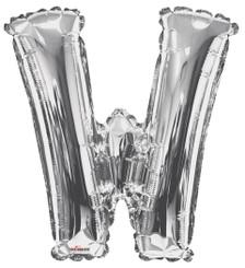 silver letter w balloon