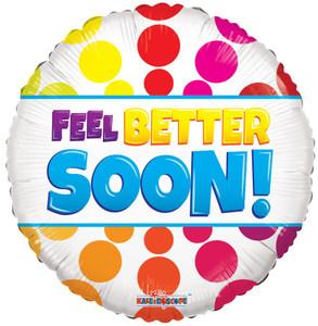 "18"" Feel Better Soon Dots Helium Foil Balloon 1ct #15395"