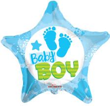 it's a boy foot print balloons