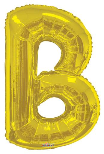 gold letter b balloon