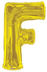 gold letter balloons letter f balloons