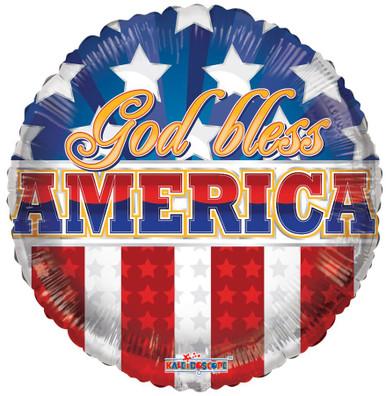 god bless america balloons