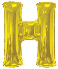 letter balloons gold letter h