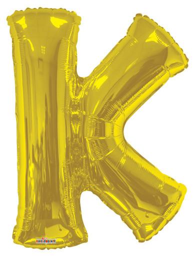 gold letter k balloons