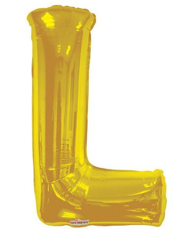 gold letter balloons letter l balloon