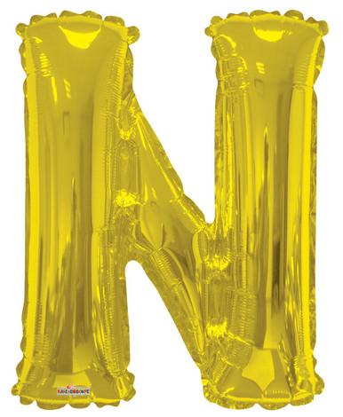 gold letter n balloon mylar letter balloons