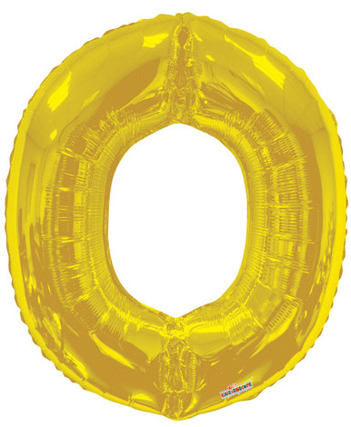 gold letter o balloon