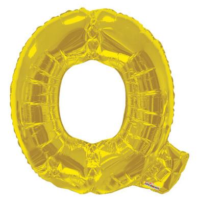 gold letter balloons letter q balloons