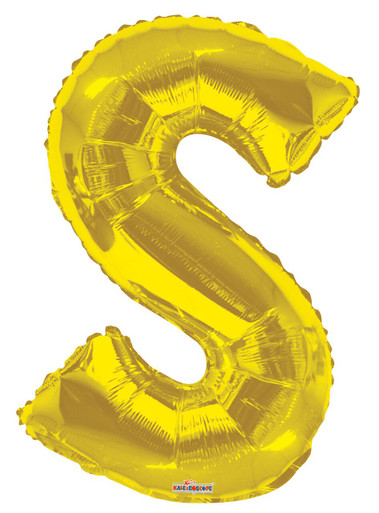 letter s balloons gold letter balloons