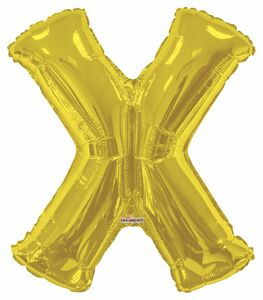 gold letter x balloon