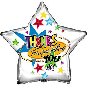 """9"""" Mini Thanks for everything you Do Air Fill Only (5 PACK) #824617"""