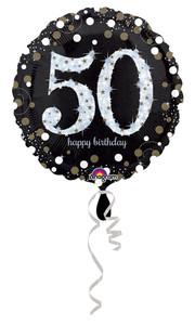 50th birthday balloons sparkling balloons