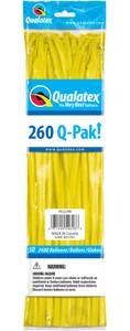 yellow 260q pak twisting balloons